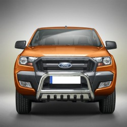 Pare-buffle avec plaque de protection Ford Ranger (2016-)