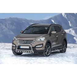 Pare-buffle avec plaque de protection Hyundai Santa Fe (2012 -)