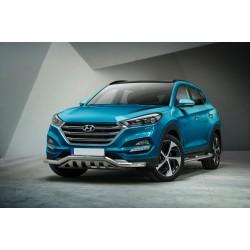 Pare-buffle barre de Spoiler et plaque de protection Hyundai Tucson (2015 -)