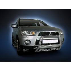 Pare-buffle avec plaque de protection Mitsubishi Outlander (2009-2012)