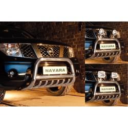 Pare-buffle avec grille Nissan Navara (2005-2010)
