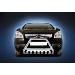 Pare-buffle avec plaque de protection Nissan Qashqai (2007-2010)