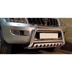 Pare-buffle avec plaque de protection Toyota Land Cruiser 120 (2002-2009)