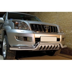 Pare-buffle barre de Spoiler et plaque de protection Toyota Land Cruiser 120 (2002-2009)