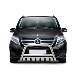 Pare-buffle avec plaque de protection Mercedes V-class (2014-)