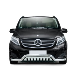 Pare-buffle barre et plaque de protection Mercedes V-class (2014-)