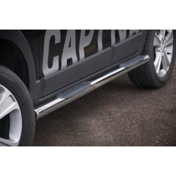 Marchepieds Chevrolet Captiva (2012-) - Latéraux avec revêtement en plastique anti-dérapant -