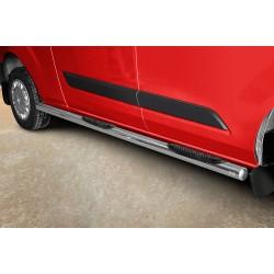Marchepieds Ford Transit Custom L2 Long (2012 -) - Latéraux avec revêtement en plastique anti-dérapant -