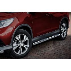 Marchepieds Honda CRV (2012 - 2016 -) - Latéraux avec revêtement en plastique anti-dérapant