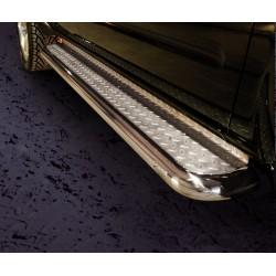 Marchepieds Nissan Navara (2005-2010) - Plat Avec Plaque Anti Dérapante -