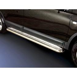 Marchepieds Nissan Qashqai +2 (2010-2013) - Plat Avec Plaque Anti Dérapante -