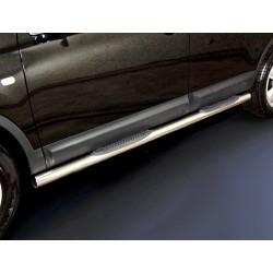Marchepieds Nissan Qashqai + 2 (2010-2013) - Latéraux avec revêtement en plastique anti-dérapant -