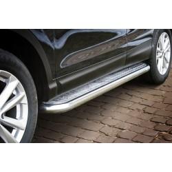 Marchepieds Nissan Qashqai (2013-) - Plat Avec Plaque Anti Dérapante -