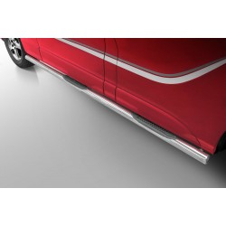 Marchepieds Opel Vivaro L2 Long (2014 -) empattement de 3498 mm -Latéraux avec revêtement en plastique anti-dérapant-