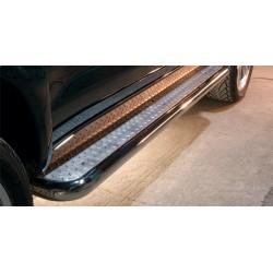 Marchepieds Toyota Hilux (2006-2011) - Plat avec plaque anti-dérapante -