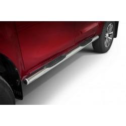 Marchepieds Toyota Hilux (2015-) - Latéraux avec revêtement en plastique anti-dérapant -