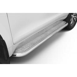 Marchepieds Toyota Land Cruiser 150 (2017-) - Plat avec plaque anti-dérapante -