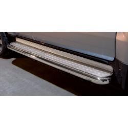 Marchepieds Toyota Land Cruiser V8 (2008-2012) - Plat avec plaque anti-dérapante -