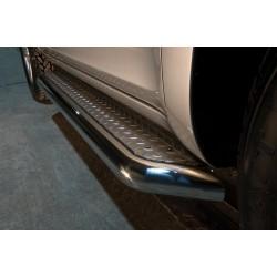 Marchepieds Toyota RAV4 (2006-2010) - Plat avec plaque anti-dérapante -