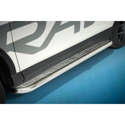 Marchepieds Toyota RAV4 (2015 -) - Plat avec plaque anti-dérapante -