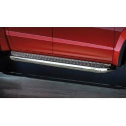 Marchepieds VW Amarok (2009-2016) - Plat avec plaque anti-dérapante perforée -