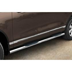 Marchepieds VW Touareg (2011-) - Latéraux avec revêtement en plastique anti-dérapant -