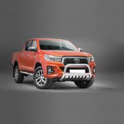 Pare-buffle avec plaque de protection Toyota Hilux (2018-)
