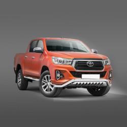 Barre pare-buffle avec plaque de protection Toyota Hilux (2018-)
