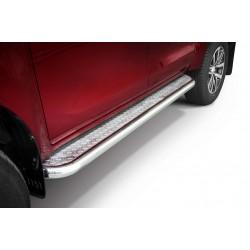 Marchepieds Toyota Hilux (2018-) - Plat avec plaque anti-dérapante -