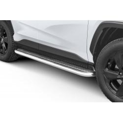 Marchepieds Toyota RAV4 (2018 -) - Plat Avec Plaque Anti Dérapante -