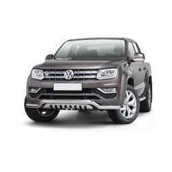 Barre pare-buffle avec plaque Volkswagen Amarok avec plaque de protection d'origine (2016-)