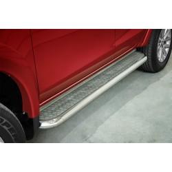 Marchepieds Mitsubishi L200 (2015-) - Plat Avec Plaque Anti Dérapante -